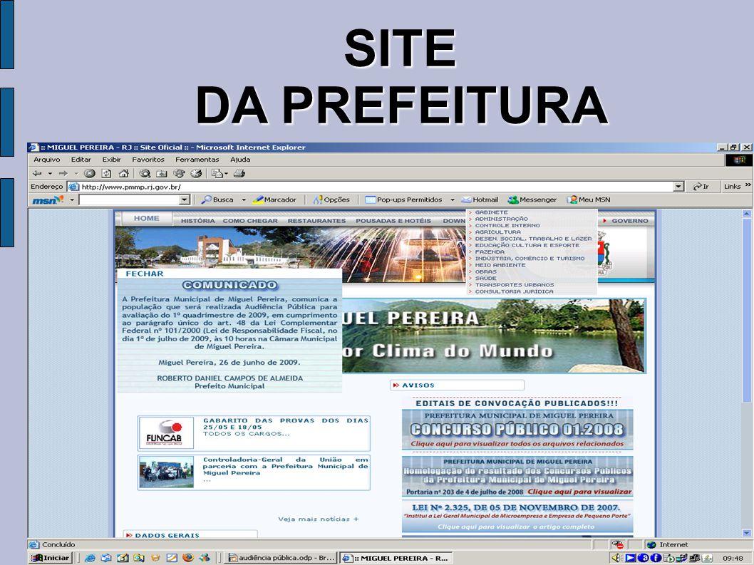 SITE DA PREFEITURA