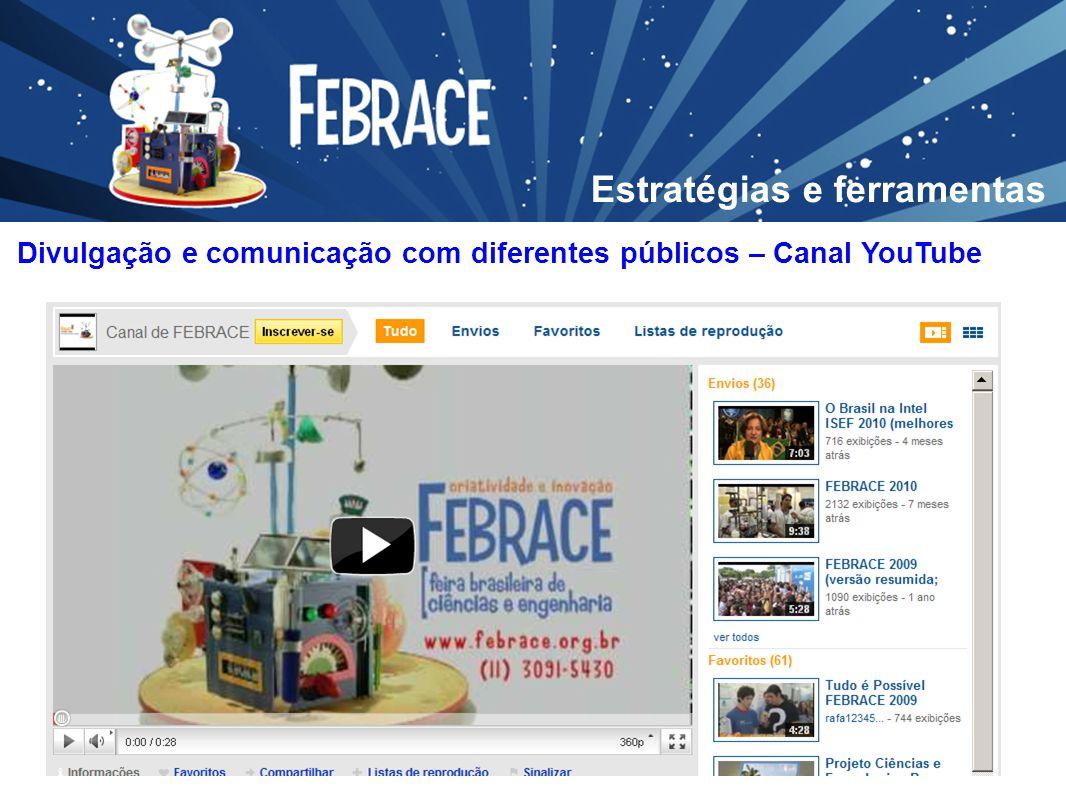 Divulgação e comunicação com diferentes públicos – Canal YouTube