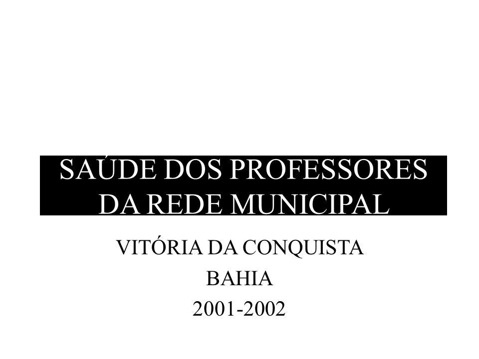 SAÚDE DOS PROFESSORES DA REDE MUNICIPAL VITÓRIA DA CONQUISTA BAHIA 2001-2002