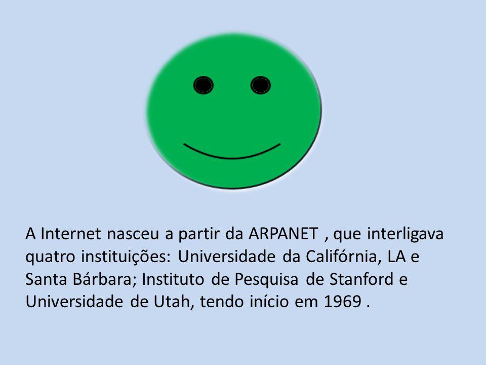 O objetivo era desenvolver uma rede segura para transmissão de informação entre instituições militares.