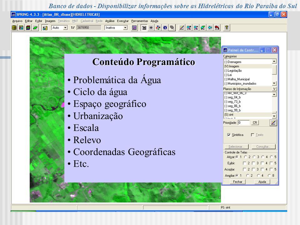 UNIVERSIDADE DE TAUBATÉ Programa de Pós-Graduação em Ciências Ambientais Campus de Ciências Agrárias - Turma XIV – 2006 Conteúdo Programático Problemá
