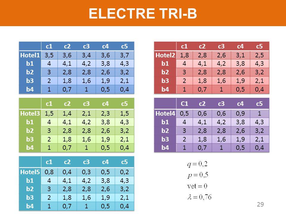 ELECTRE TRI-B 29