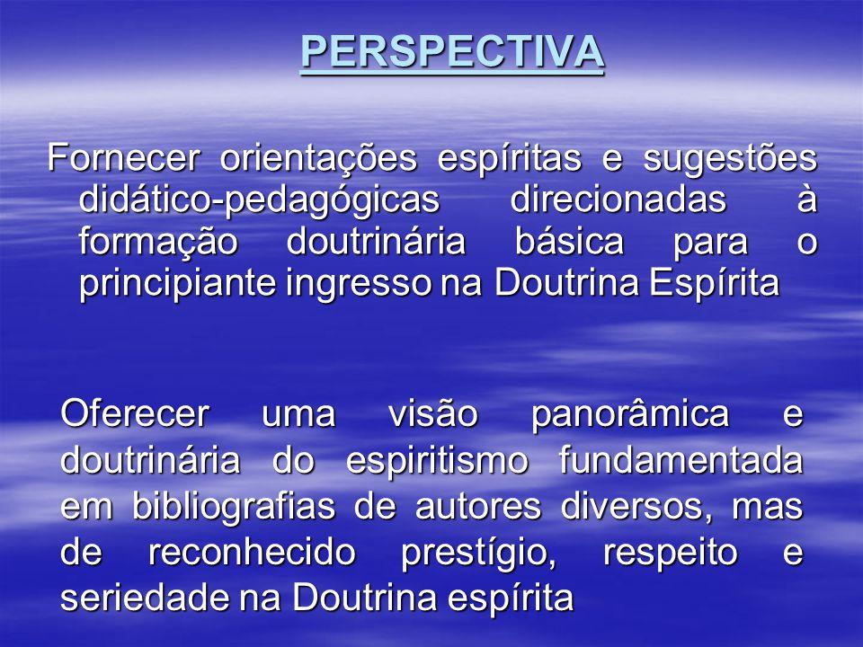 Fornecer orientações espíritas e sugestões didático-pedagógicas direcionadas à formação doutrinária básica para o principiante ingresso na Doutrina Es