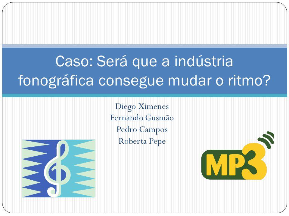 Diego Ximenes Fernando Gusmão Pedro Campos Roberta Pepe Caso: Será que a indústria fonográfica consegue mudar o ritmo?