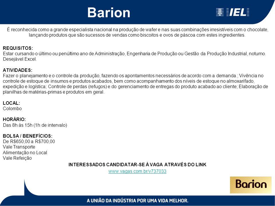 Barion É reconhecida como a grande especialista nacional na produção de wafer e nas suas combinações irresistíveis com o chocolate, lançando produtos