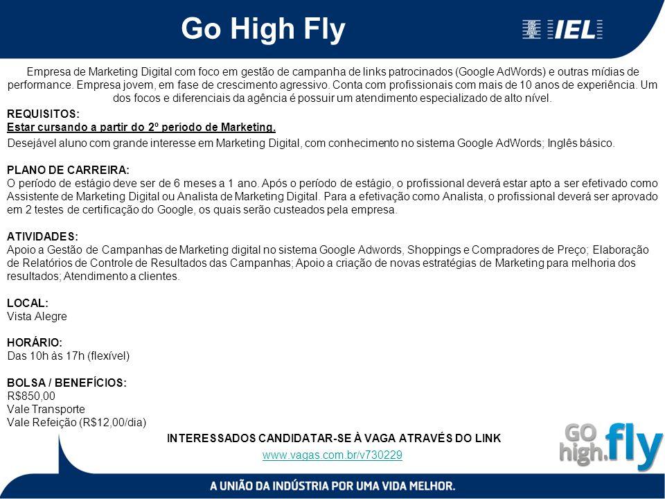 Go High Fly Empresa de Marketing Digital com foco em gestão de campanha de links patrocinados (Google AdWords) e outras mídias de performance. Empresa