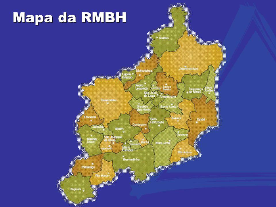 Mapa da RMBH