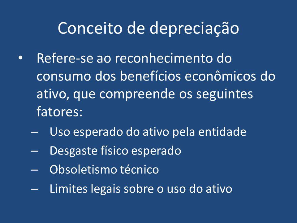 Amortização A amortização do investimento recebe nome específico em função do tipo de ativo em que foi feito o investimento: DEPRECIAÇÃO = é a amortização de custo de bens corpóreos EXAUSTÃO = é a amortização de custo de recursos naturais AMORTIZAÇÃO = é utilizada para os casos de bens incorpóreos