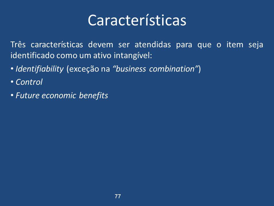 Ativo Intangível Conceito Direitos que tenham por objeto bens incorpóreos Destinados à manutenção das atividades da empresa Servem a vários ciclos ope