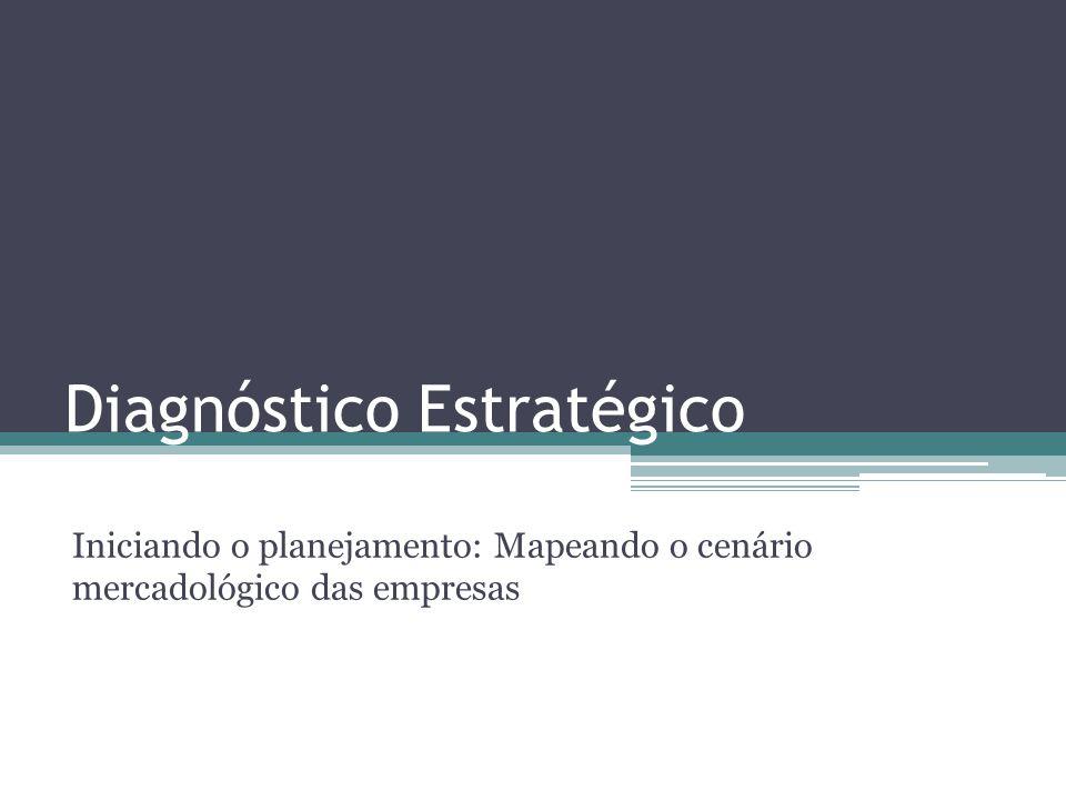 Diagnóstico Estratégico Iniciando o planejamento: Mapeando o cenário mercadológico das empresas