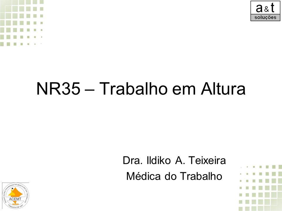 NR35 – Trabalho em Altura Dra. Ildiko A. Teixeira Médica do Trabalho