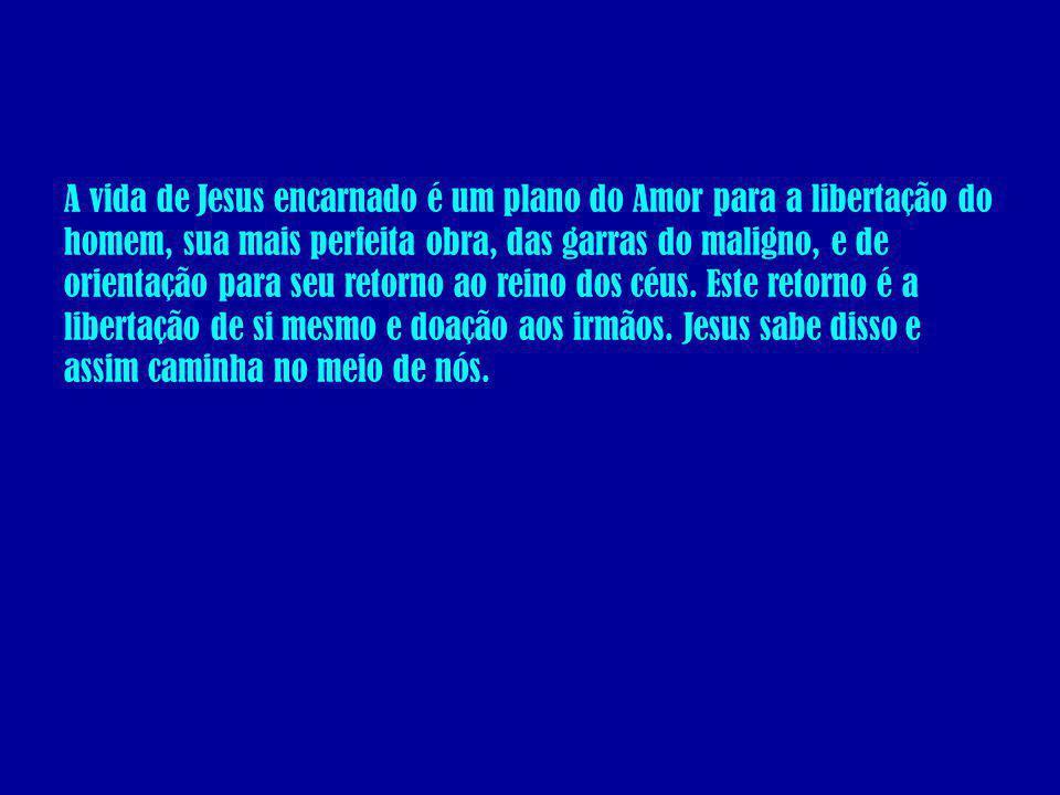 A vida de Jesus encarnado é um plano do Amor para a libertação do homem, sua mais perfeita obra, das garras do maligno, e de orientação para seu retor