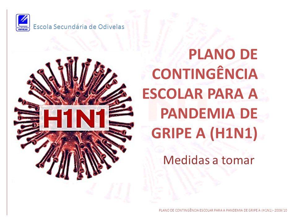 PLANO DE CONTINGÊNCIA ESCOLAR PARA A PANDEMIA DE GRIPE A (H1N1) Medidas a tomar Escola Secundária de Odivelas PLANO DE CONTINGÊNCIA ESCOLAR PARA A PAN