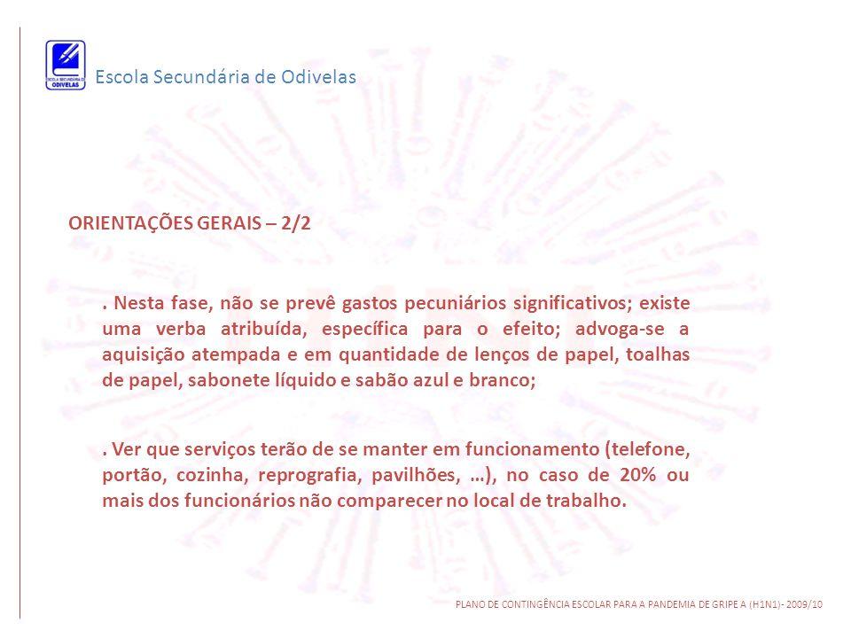Escola Secundária de Odivelas ORIENTAÇÕES ESPECÍFICAS – 1/3.