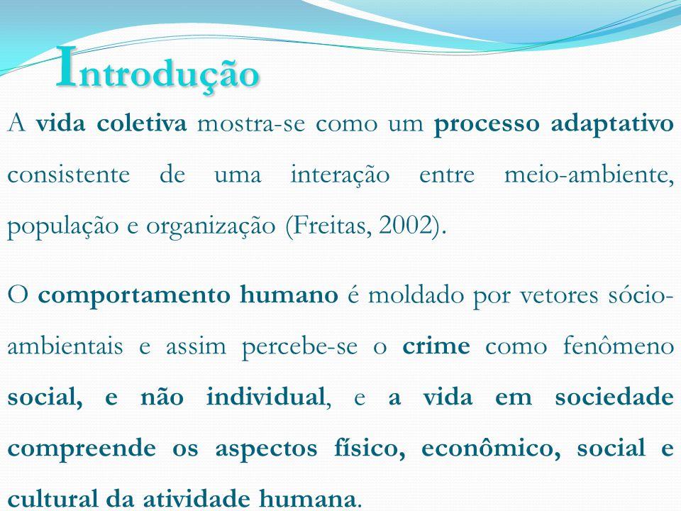 I ntrodução A vida coletiva mostra-se como um processo adaptativo consistente de uma interação entre meio-ambiente, população e organização (Freitas, 2002).