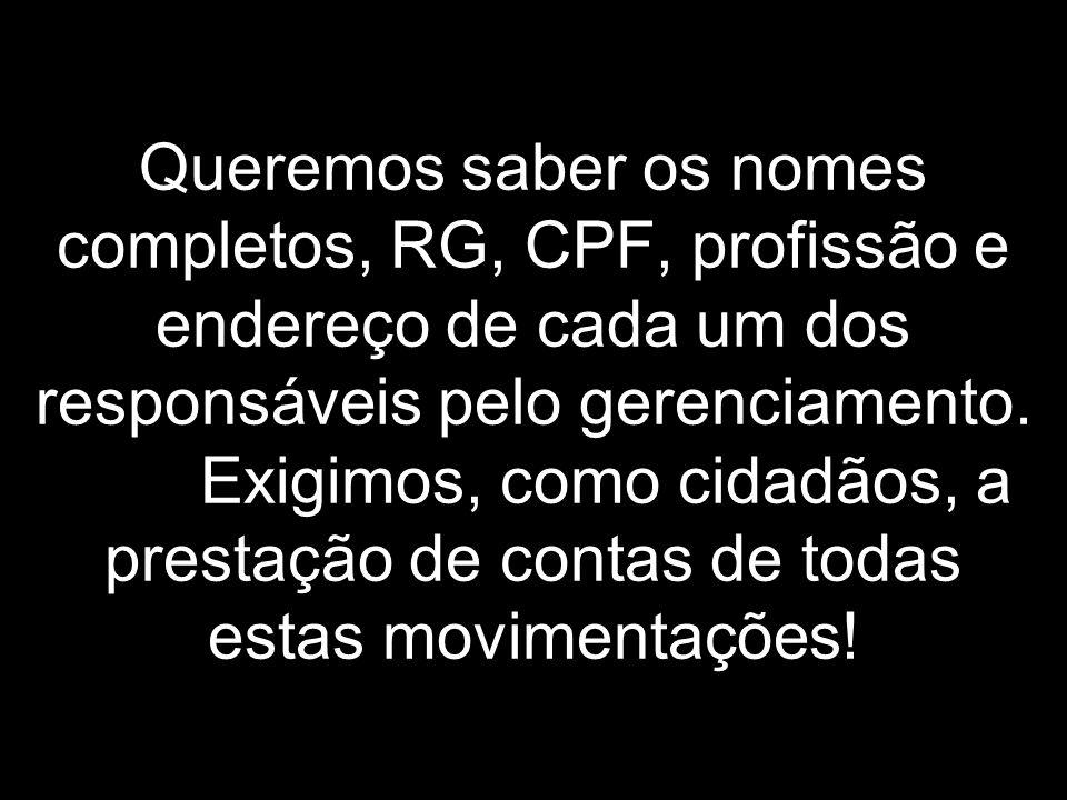 Convoco toda a população brasileira a se rebelar contra esta situação, a cobrar resultados, transparência, correção, a pressionar diretamente o governo e seus representantes, em todas as esferas.