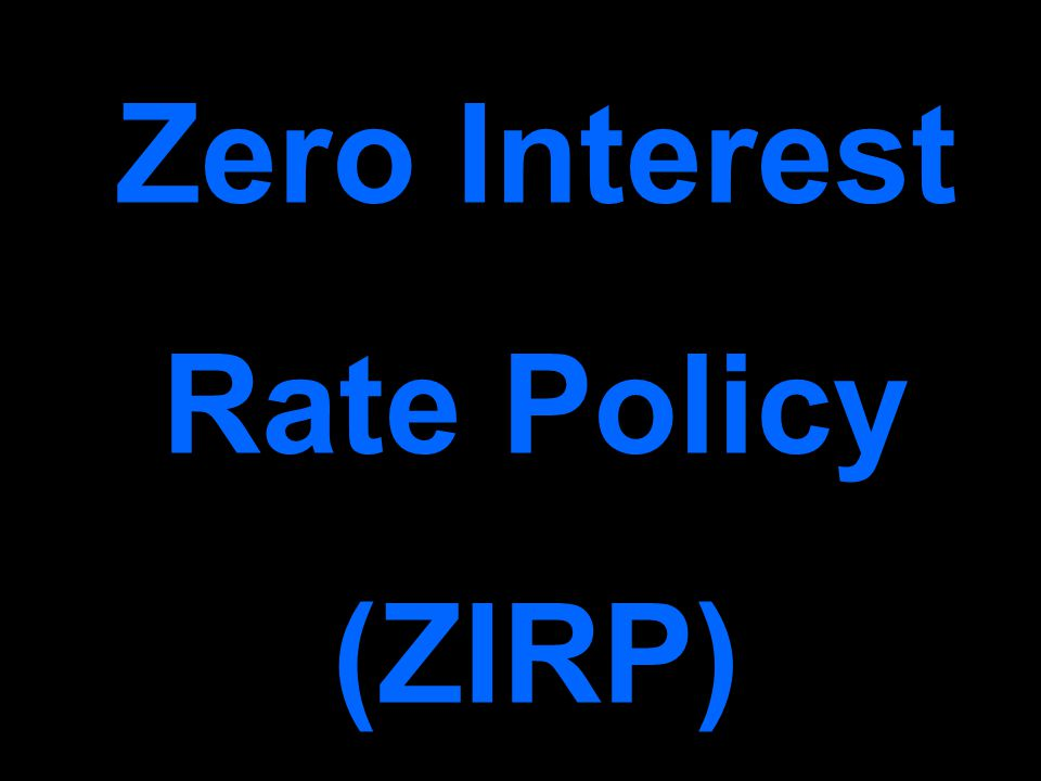 Zero Interest Rate Policy (ZIRP)