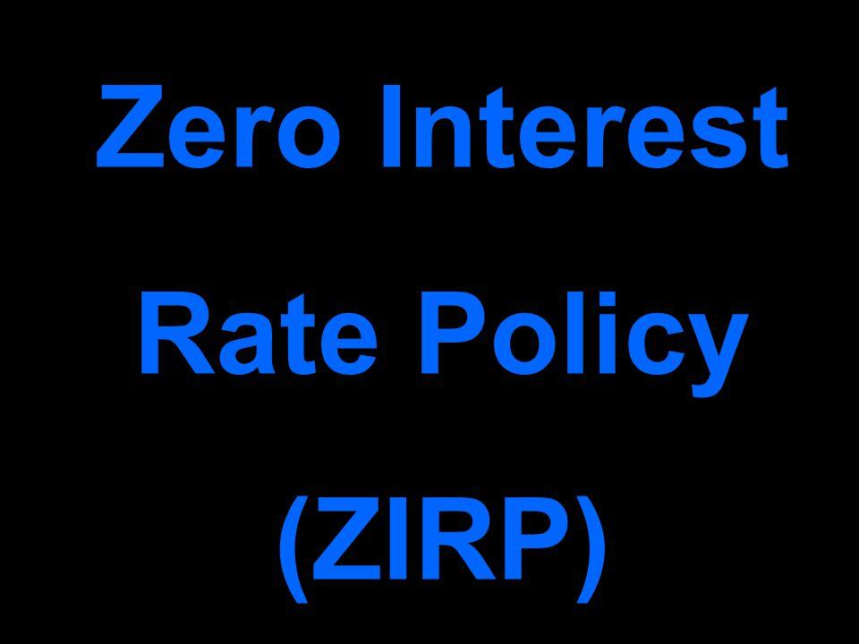 Zero Interest Rate Policy (ZIRP)