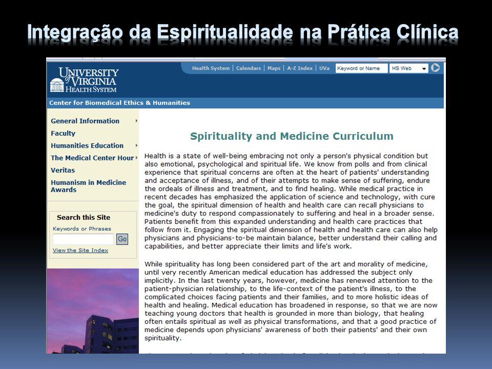 O que o médico deve fazer no consultório para abordar adequadamente a espiritualidade e integrar a religiosidade na saúde do paciente.