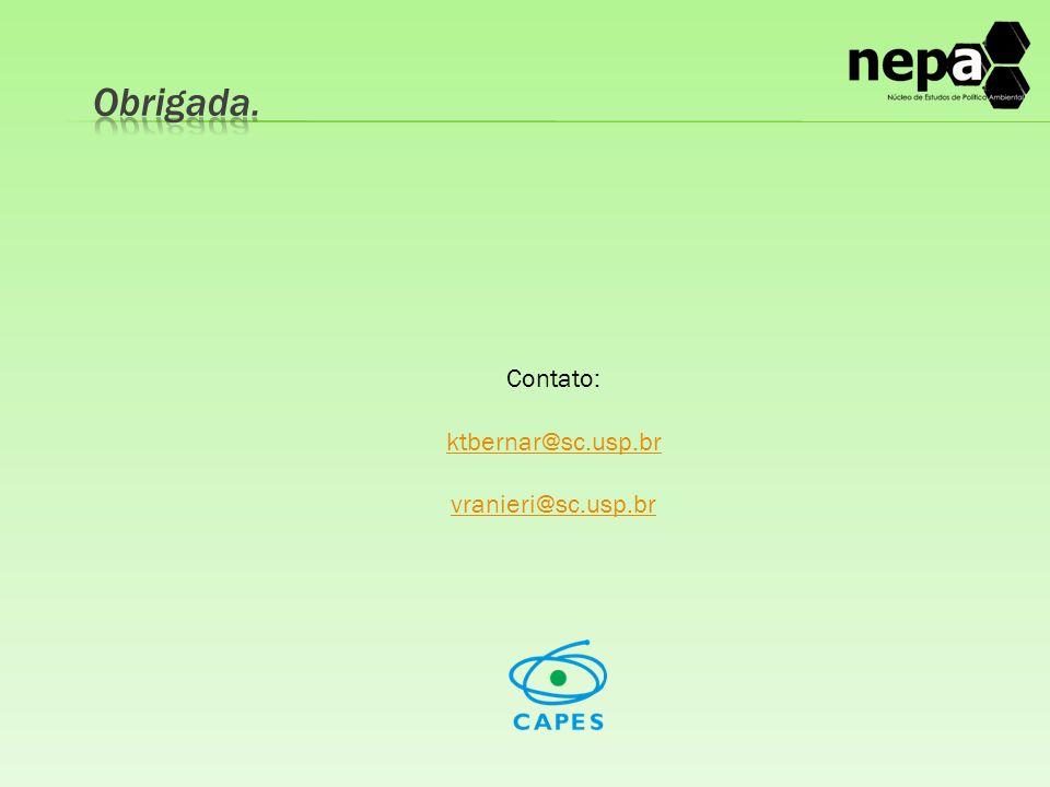 Contato: ktbernar@sc.usp.br vranieri@sc.usp.br