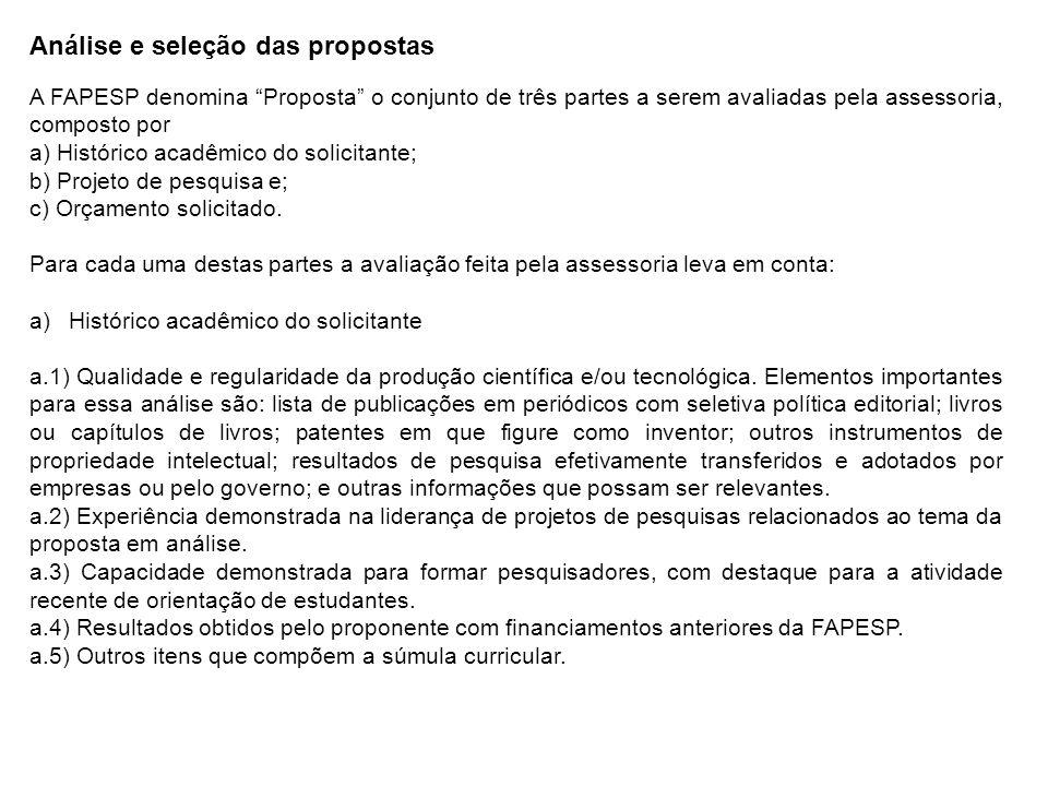 b) Projeto de Pesquisa b.1) Definição e pertinência dos objetivos.
