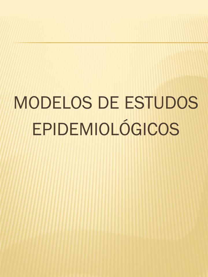 MODELOS DE ESTUDOS EPIDEMIOLÓGICOS