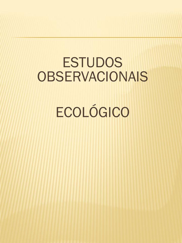 ESTUDOS OBSERVACIONAIS ECOLÓGICO
