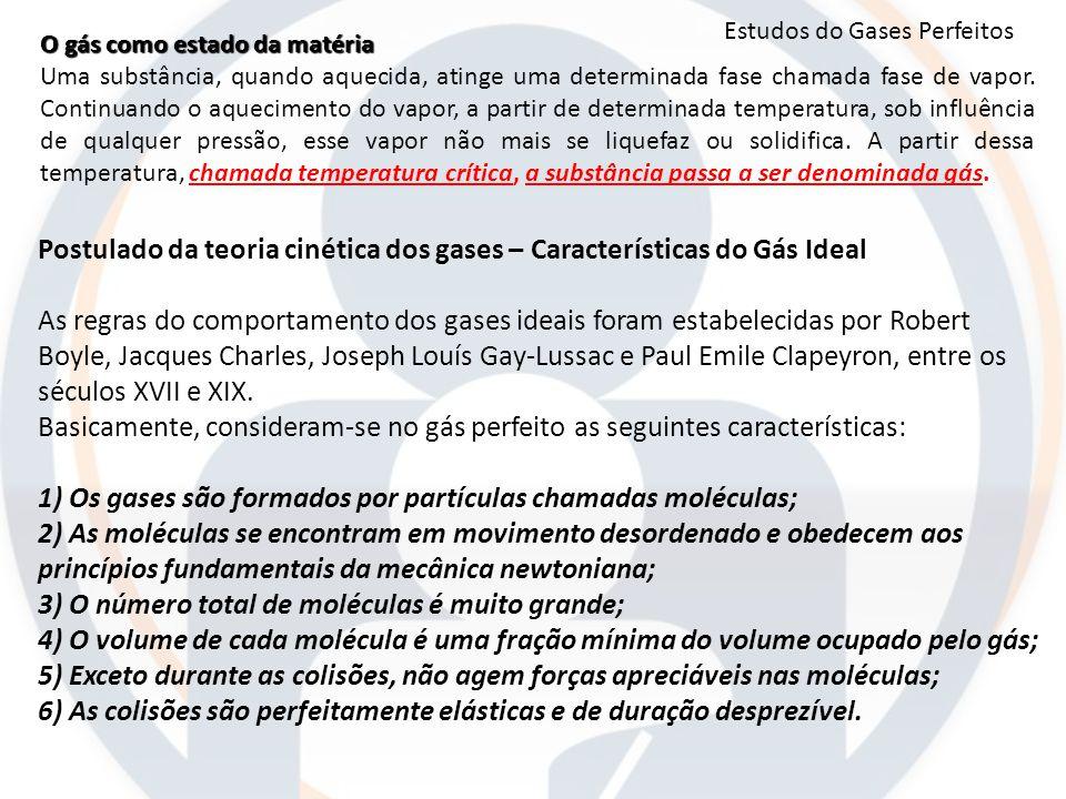 O gás como estado da matéria Uma substância, quando aquecida, atinge uma determinada fase chamada fase de vapor. Continuando o aquecimento do vapor, a