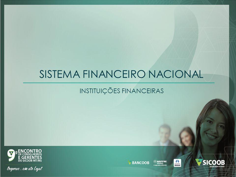 SISTEMA FINANCEIRO NACIONAL INSTITUIÇÕES FINANCEIRAS