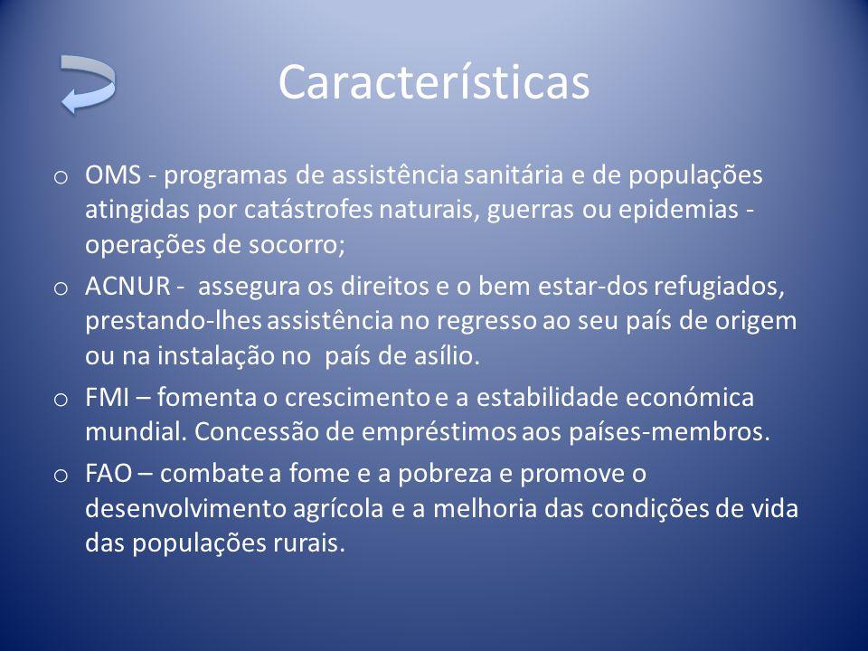 o PNUD – produção de estudos e relatórios sobre o desenvolvimento humano.