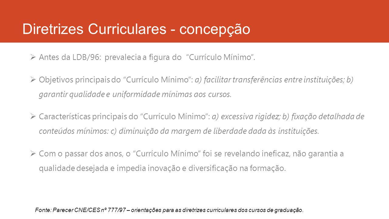 Diretrizes Curriculares - concepção  LDB/96: trouxe nova compreensão da matéria.