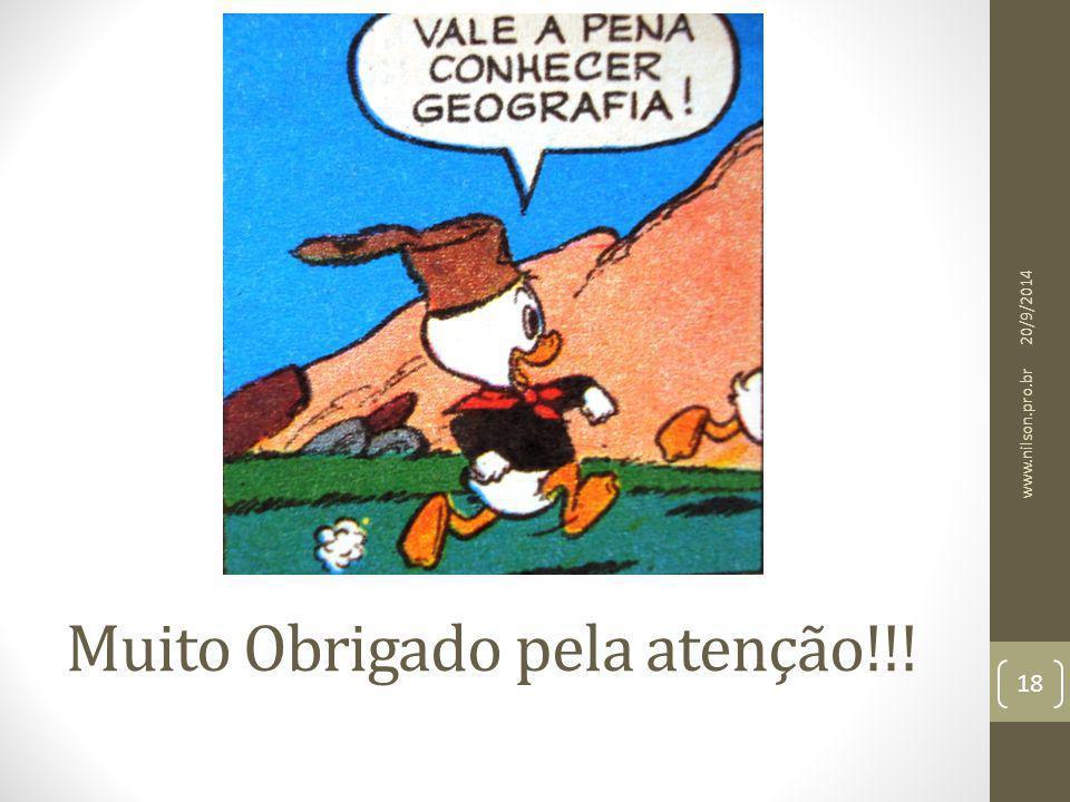 Muito Obrigado pela atenção!!! 20/9/2014 18 www.nilson.pro.br