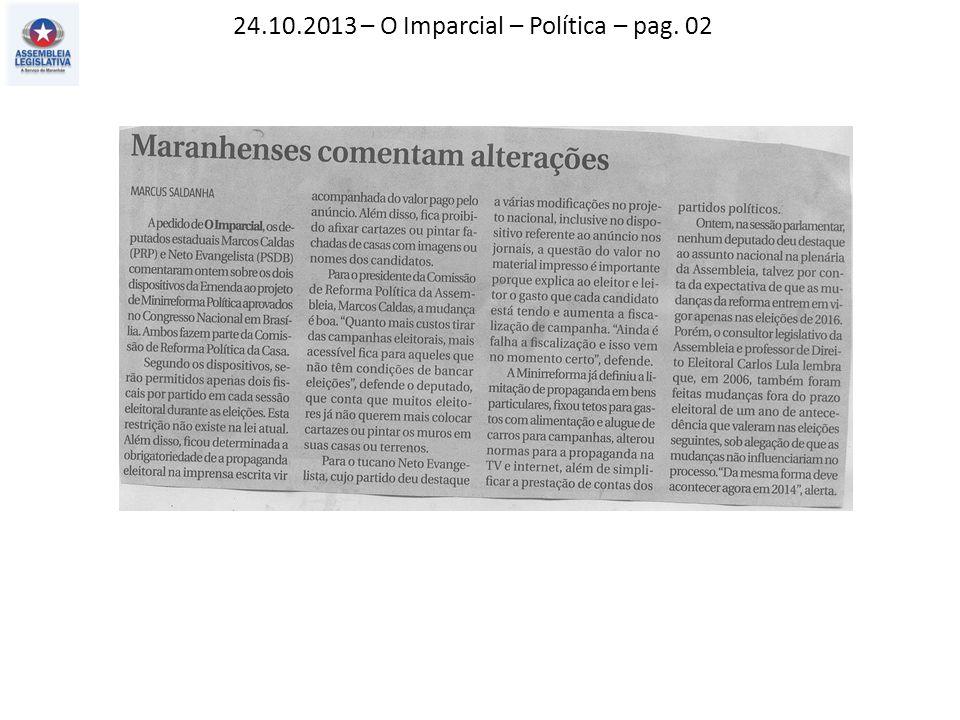 24.10.2013 – O Imparcial – Política – pag. 02