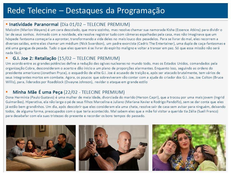 Rede Telecine – Destaques da Programação  Inatividade Paranormal (Dia 01/02 – TELECINE PREMIUM) Malcolm (Marlon Wayans) é um cara descolado, que mora