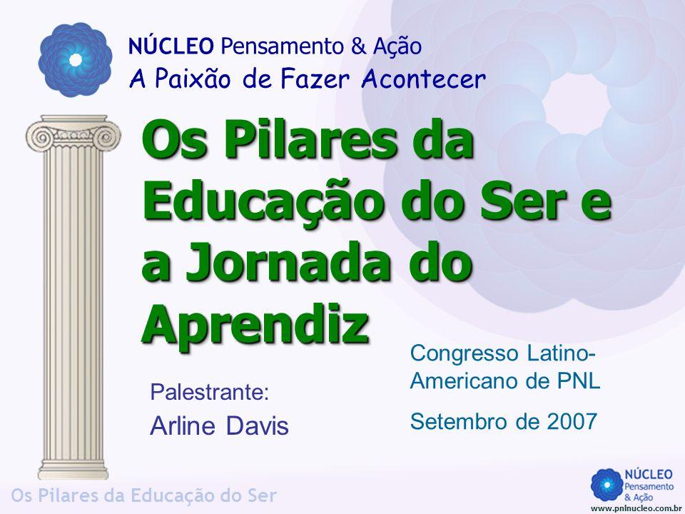 www.pnlnucleo.com.br Os Pilares da Educação do Ser Palestrante: Arline Davis Os Pilares da Educação do Ser e a Jornada do Aprendiz NÚCLEO Pensamento &