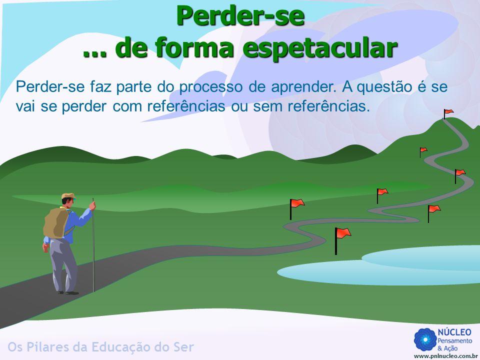 www.pnlnucleo.com.br Os Pilares da Educação do Ser Perder-se... de forma espetacular Perder-se faz parte do processo de aprender. A questão é se vai s
