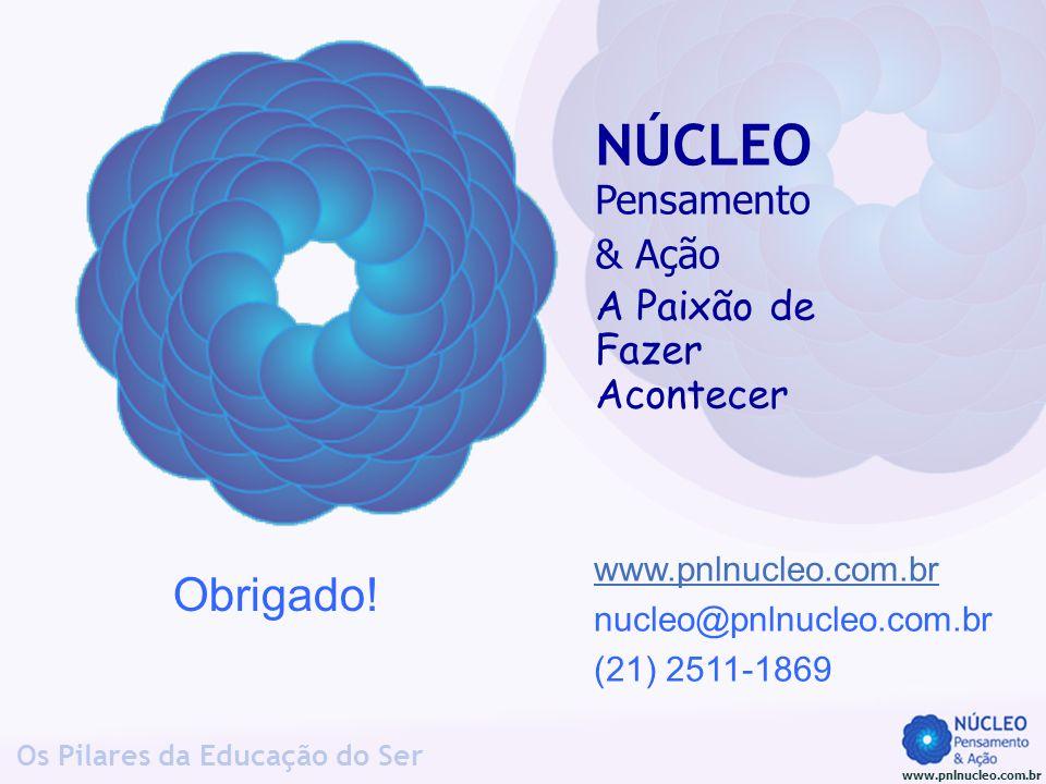 www.pnlnucleo.com.br Os Pilares da Educação do Ser www.pnlnucleo.com.br nucleo@pnlnucleo.com.br (21) 2511-1869 Obrigado! NÚCLEO Pensamento & Ação A Pa