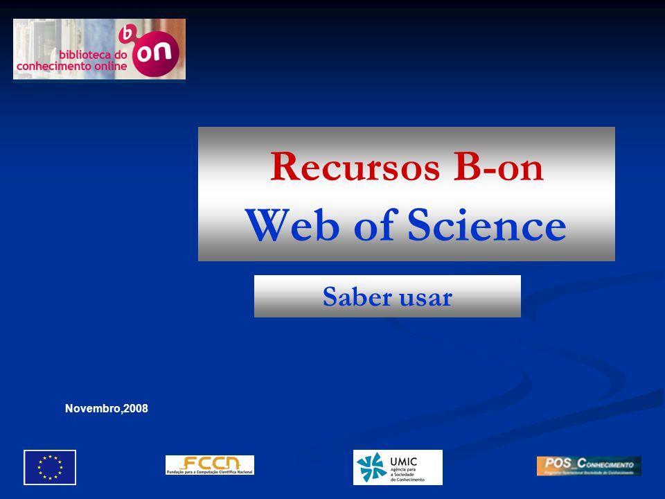   No início da página, é-nos mostrada a expressão de pesquisa, a indicação das bases pesquisadas, o período de tempo e eventuais limites utilizados.