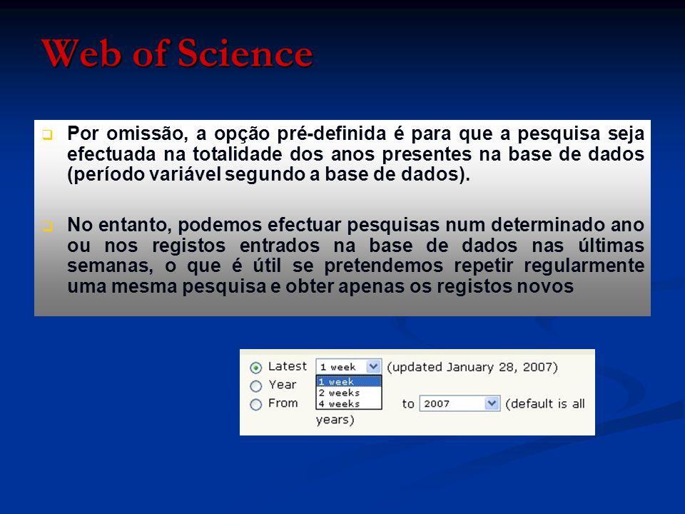 Para validar a marcação, temos de pressionar a opção «Add to marked list» Web of Science