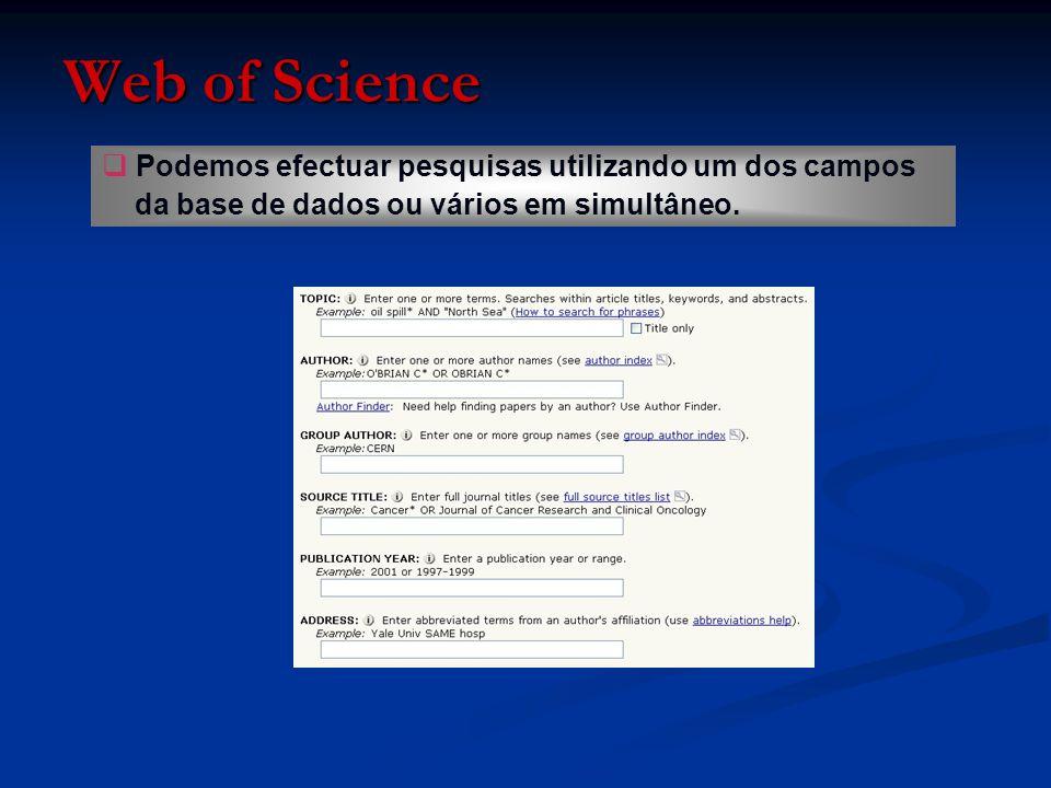   Podemos também estabelecer limites de pesquisa por idioma e/ou por tipo de documento, a partir das opções no final da página.
