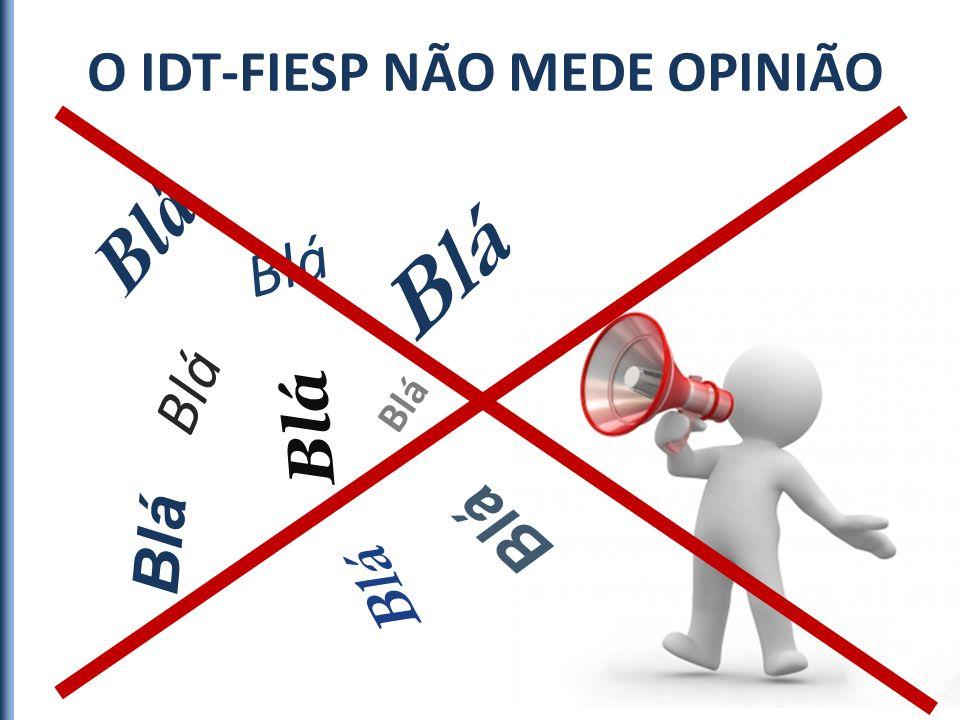 O IDT-FIESP NÃO MEDE OPINIÃO Blá