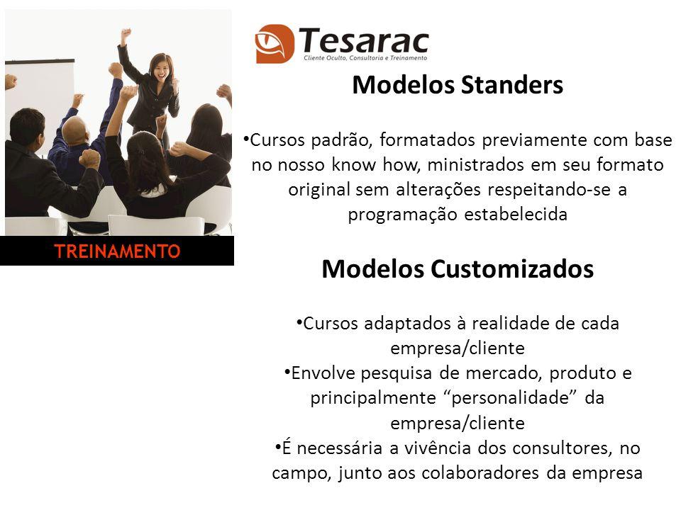 Modelos Standers Cursos padrão, formatados previamente com base no nosso know how, ministrados em seu formato original sem alterações respeitando-se a