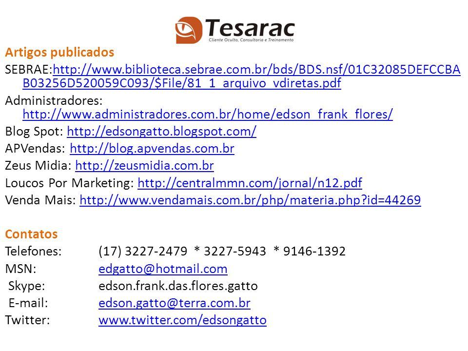 Artigos publicados SEBRAE:http://www.biblioteca.sebrae.com.br/bds/BDS.nsf/01C32085DEFCCBA B03256D520059C093/$File/81_1_arquivo_vdiretas.pdfhttp://www.