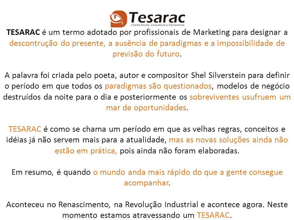 TESARAC é um termo adotado por profissionais de Marketing para designar a descontrução do presente, a ausência de paradigmas e a impossibilidade de pr