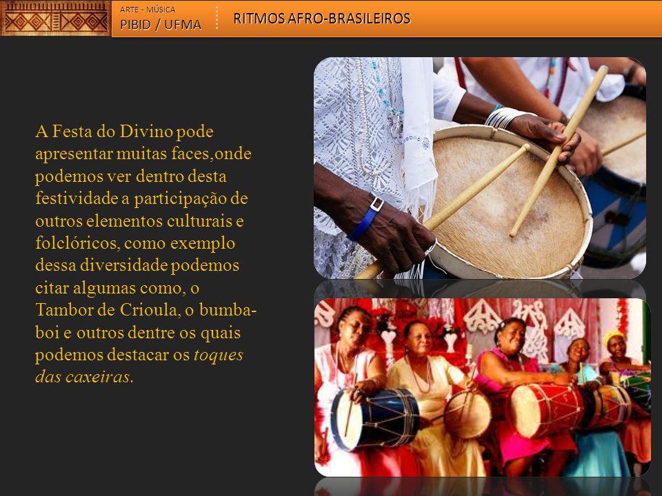 A Festa do Divino pode apresentar muitas faces,onde podemos ver dentro desta festividade a participação de outros elementos culturais e folclóricos, c