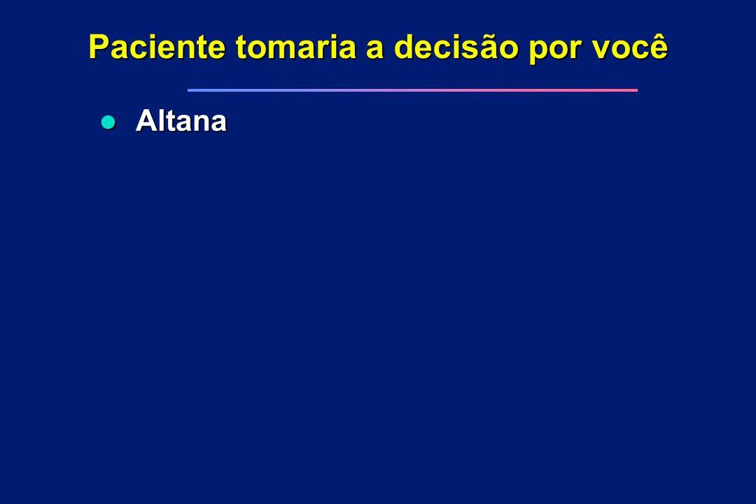 Paciente tomaria a decisão por você l Altana