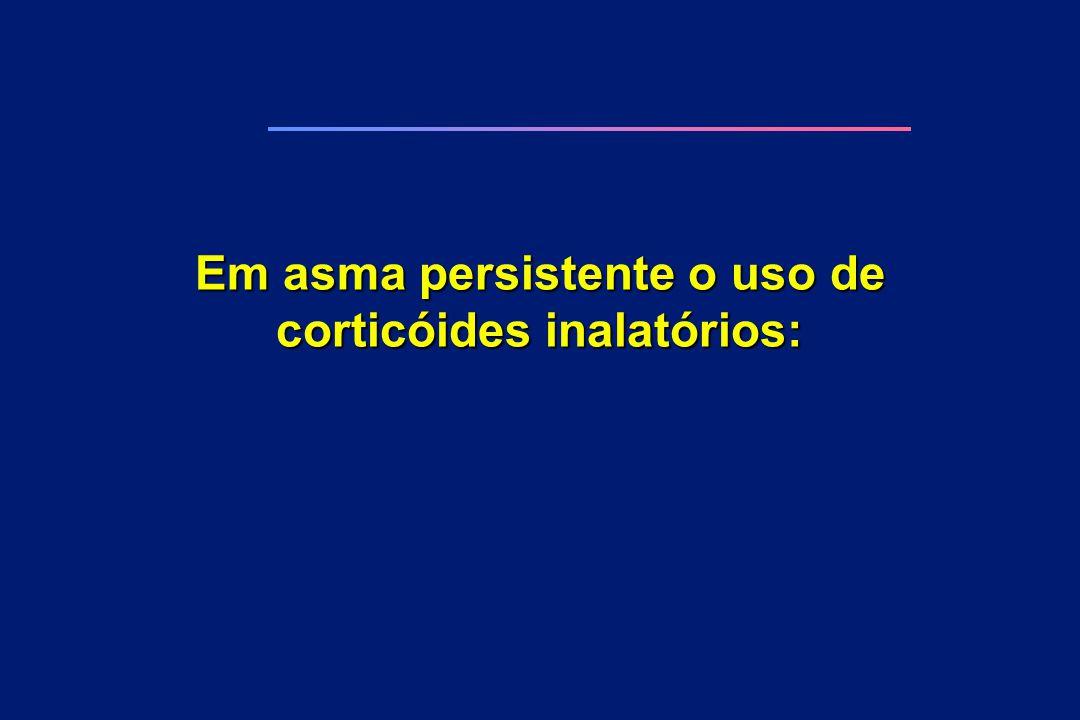 Em asma persistente o uso de corticóides inalatórios: