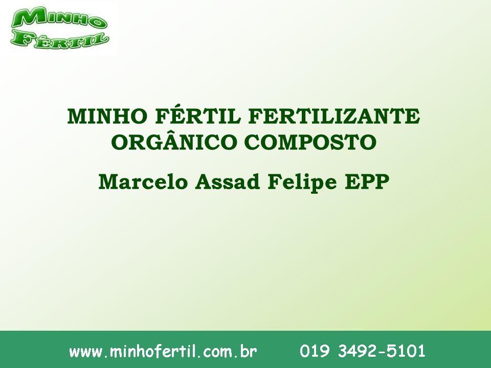 MINHO FÉRTIL FERTILIZANTE ORGÂNICO COMPOSTO Marcelo Assad Felipe EPP