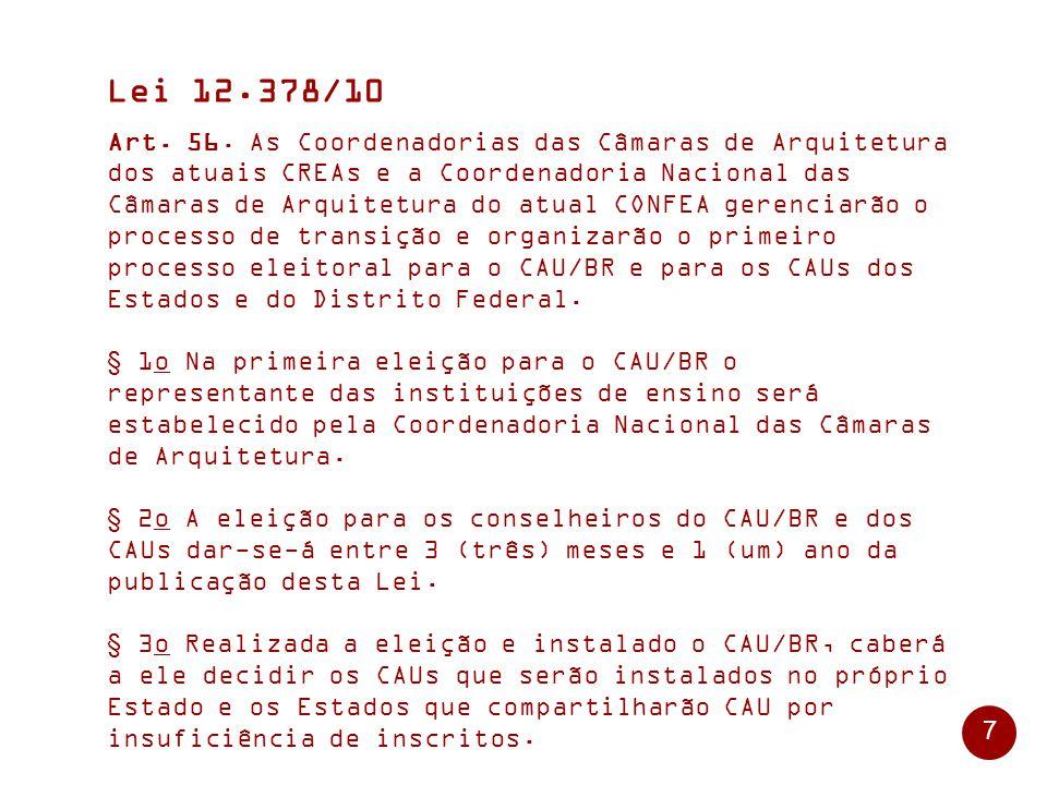 7 Lei 12.378/10 Art.56.