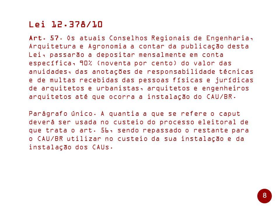 8 Lei 12.378/10 Art.57.